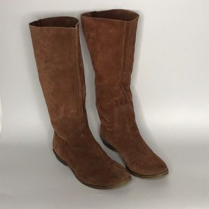 Nine West sz 9 brown suede boots slouch soft side